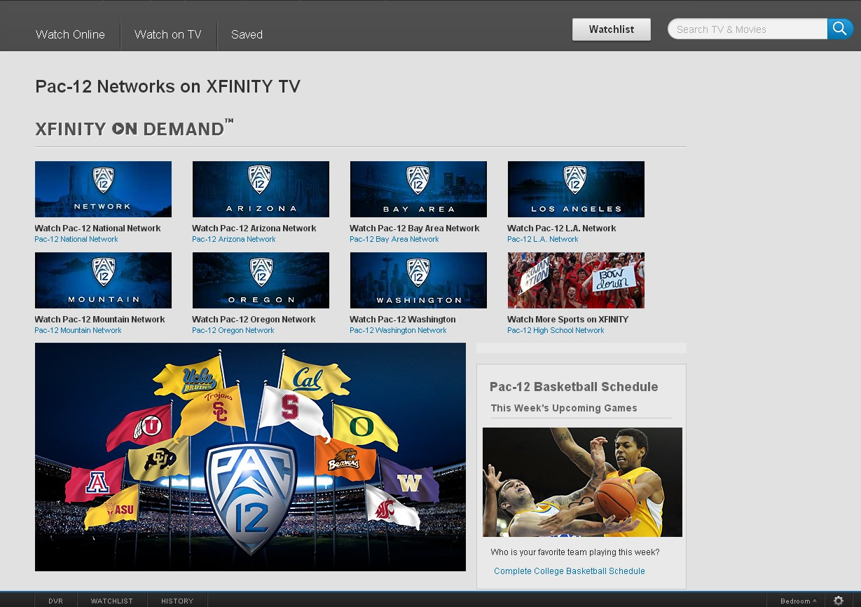 Xfinitycom Pac 12  photo
