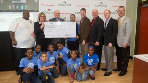 Comcast Donates to Boys & Girls Club to Build Kids' Technology Skills, help them with Homework