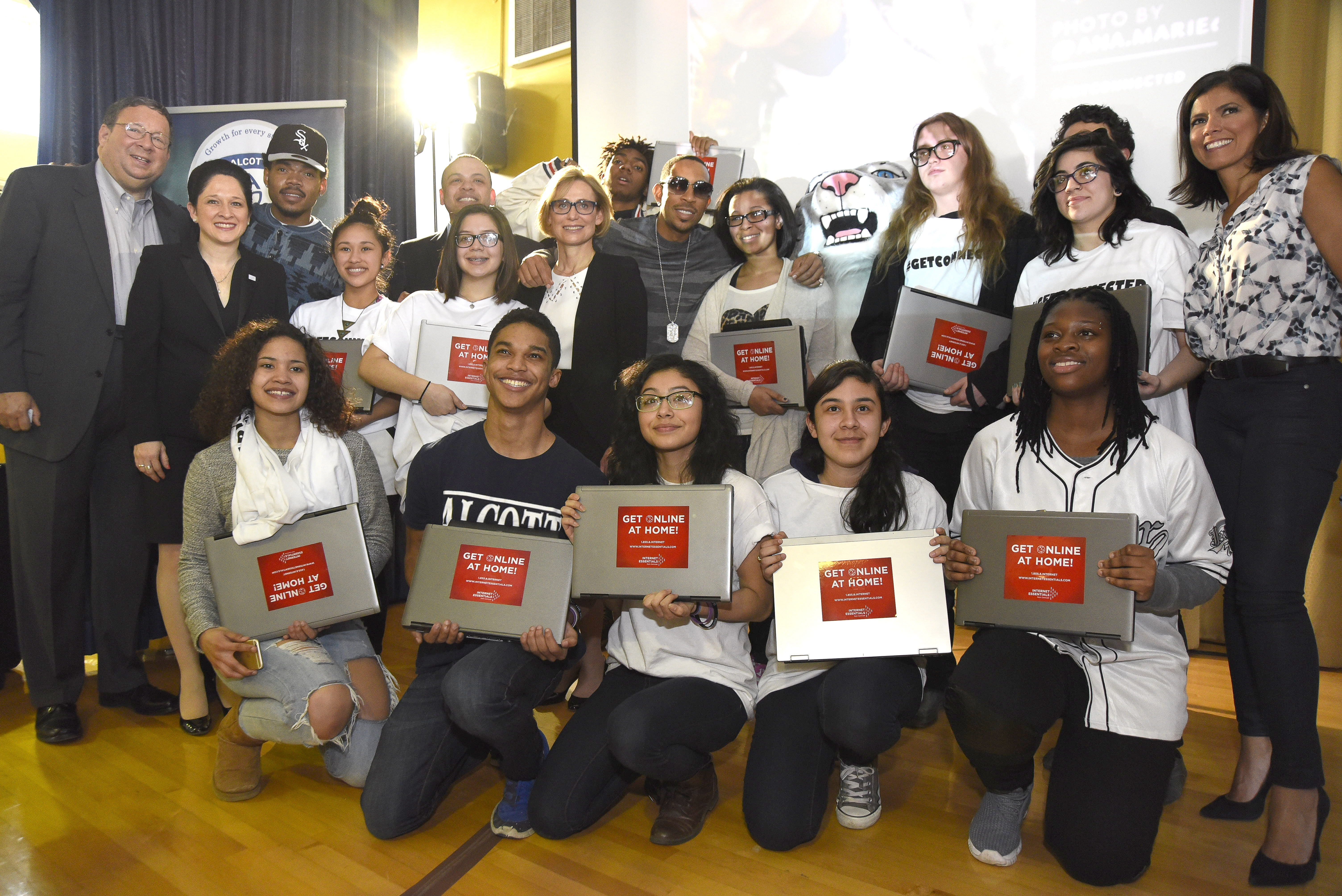 Chance the rapper ludacris launch get schooled get connected chance the rapper and ludacris joined internet essentials city and school leaders at alcott college prep on tuesday afternoon to kick off the popular get kristyandbryce Images