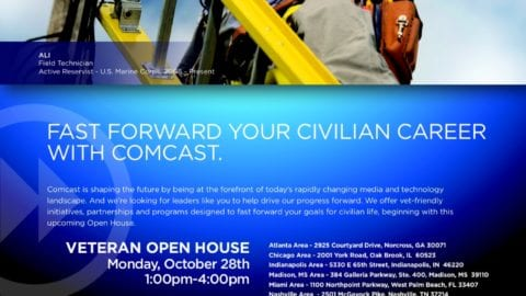 Comcast Hosts Open House and Job Fair for Military Veterans