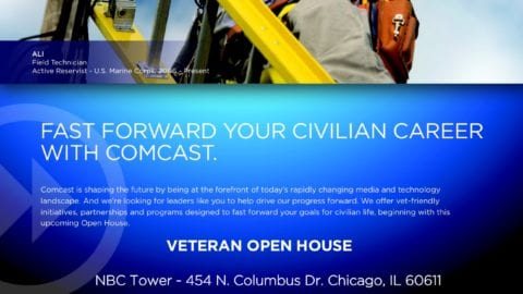 Comcast Holds Job Fair and Career Open House for Military Veterans