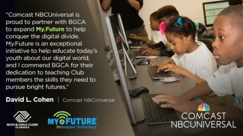 Boys and Girls Clubs of Greater Peoria Receives $50,000 Grant from Comcast Foundation to Expand MY.FUTURE Technology Initiative
