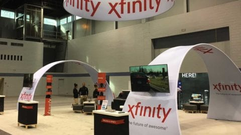 Xfinity Booth at the 2017 Chicago Auto Show