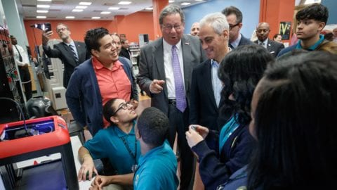 """Comcast investment will include """"Experience Labs"""" at three neighborhood branch libraries and expansion of Internet Essentials program for qualifying Chicagoans"""