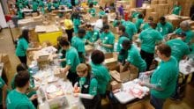 Hundreds of Volunteers Come Together at Cradles to Crayons to Assemble 7,500 Hygiene Packs and other Essential Supplies for Disadvantaged Chicago Children