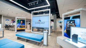 Example of an interior of an Xfinity Store