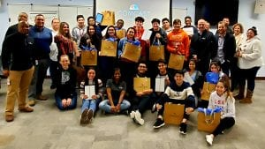 """Participants from Big Brothers Big Sisters of Metropolitan Chicago's """"Beyond School Walls"""" program."""